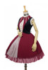 Front Side View (Burgundy + Black Ver.) (petticoat: UN00026)