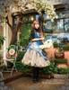 Model Show when skirt part buttoned up (Misty Blue Ver.) (hat: P00540, blouse: TP00137, birdcage petticoat: UN00019, leggings: P00182)