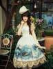 Model Show (Fairy Mint Ver.) (hat: P00540, fan: P00580, birdcage petticoat: UN00019)