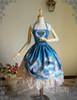 Front View when skirt part buttoned up (Misty Blue Ver.) (birdcage petticoat: UN00019)