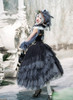 Model Show (Brown Ver.) (ruffle collar: P00666, dress: DR00261 & DR00260, underskirt: SP00207, petticoat: UN00028)