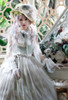 Model Show (Light Grey Organdy + White Embroidery Tulle Ver.) (hat: P00670, dress: DR00260 & DR00261, corset: Y00043)
