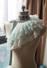 Fairy Mint Organdy + White Embroidery Tulle Version