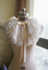 Pale Ivory Organdy + White Embroidery Tulle Version
