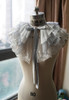 Light Grey Organdy + White Embroidery Tulle Version
