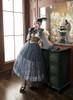 Model Show (worn as an underskirt) (mask headdress from P00670, ruffle collar: P00666, dress: DR00261, corset: Y00043, petticoat: UN00028)