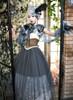 Model Show (Deep Grey + Grey Tulle Ver.) (mask headdress from P00670, ruffle collar: P00666, corset: Y00043, underskirt: SP00207, petticoat: UN00028)