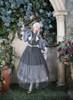 Model Show (Deep Grey + Grey Tulle Ver.) (mask headdress from P00670, ruffle collar: P00666, underskirt: SP00207, petticoat: UN00026)