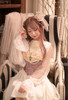 Model Show of Shirt Dress (White + Beige Tulle Ver.) (hair bow from P00670, corset: Y00043)