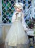 Model Show (White + Beige Tulle Ver.) (hat: P00670, ruffle collar: P00666, corset underneath: Y00043, light grey dress underneath: DR00260, underskirt: SP00207, petticoat: UN00028)