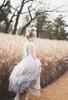 Model Show (White + Beige Tulle Ver.) (headdress from P00670, ruffle collar: P00666, corset: Y00043, dress: DR00260, underskirt: SP00207)