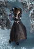 Creative Model Show (Black Ver.) (hat: P00670, ruffle collar: P00666, grey dress: DR00261, underskirt: SP00207, petticoat: UN00028)