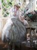 Model Show (Pale Grey Ver.) (hat: P00670, ruffle collar: P00666, corset: Y00043, white &light beige dress: DR00261, underskirt: SP00207, petticoat: UN00028)