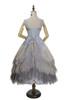 Pale Grey Version w/o waist belt, when back tied up (underskirt: SP00207, petticoat: UN00028)