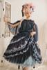 Model Show (Dark Blue + Grey Ver. worn as a tulle petticoat) (hair bows: P00679 & P00679N, blouse: TP00183, skirt: SP00209, birdcage petticoat underneath: UN00019)
