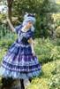 Model Show (Dark Blue + Grey Ver. worn as a tulle petticoat) (hair bow: P00679N, dress: DR00264, birdcage petticoat underneath: UN00028)