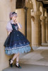 Model Show (Dark Blue + Grey Ver. worn as a tulle petticoat) (hair bow: P00679, dress: DR00265, blouse: TP00157N, birdcage petticoat underneath: UN00019)