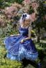 Model Show (Dark Blue + Grey Ver. worn as a tulle petticoat) (hair bow: P00679N, dress: DR00265, birdcage petticoat underneath: UN00019)