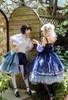 Model Show (Dark Blue + Grey Ver.) LEFT: worn as a bustle (hair bow: P00679, blouse: TP00157N, shorts: SP00208) RIGHT: worn as a tulle petticoat (dress: DR00265, birdcage petticoat underneath: UN00019)