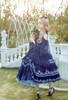 Model Show (Dark Blue + Grey Ver. worn as a tulle petticoat) (blouse: TP00183, skirt: SP00209 with optional skirt piece SP00210, birdcage petticoat underneath: UN00028)