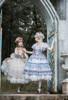 Model Show (Light Blue + White & Beige + White Ver. worn as tulle petticoats) (hair bow: P00679N, grey dress: DR00264, beige dress: DR00265)