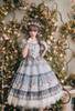 Model Show (Light Blue + White Ver. worn as a tulle petticoat) (dress: DR00264, bows on gloves: P00679) *gloves & headdress NOT for sale
