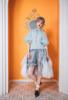 Model Show (Light Blue + White Ver. worn as a bustle) (blouse: TP00157N, shorts: SP00208)