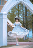 Model Show (Light Blue + White Ver. worn as a tulle petticoat) (hat: P00673, hair bow: P00672, dress: DR00262)
