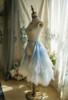 Light Blue + White Version when worn as a bustle