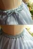 Detail View (Light Blue + White Version) shirring waist with built-in belt
