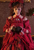 Model Show (Burgundy + Burgundy Ver.) (hair bow: P00687, dress: DR00271 with optional jabot P00689, patterned JSK underneath: DR00270)