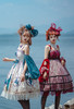 Model Show (Green Coral & Red Jellyfish Ver.) (JSK: DR00270 with optional sleeve pieces P00685, pink overskirt: SP00212, red ruffle cuffs: P00688, petticoat: UN00026)