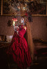 Model Show (Burgundy + Burgundy Ver. with Optional Jabot P00689) (hair bow: P00687, ruffle cuffs: P00688, JSK underneath: DR00270, petticoat: UN00019)