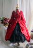 Burgundy + Burgundy Ver. with Optional Jabot P00689 (underskirt: UN00030, petticoat: UN00028)