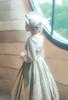 Model Show (Off-White + Pale Sage Green Stripes Ver.) (blouse: TP00186, striped JSK: DR00272, underskirt: UN00030)