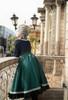 Model Show (Off-White + Pale Sage Green Stripes Ver.) (blouse: TP00186, skirt: SP00215, underskirt: UN00030)