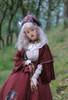 Model Show (Burgundy + Antique Pink Stripes Ver.) (cape: CT00320, blouse: TP00186, skirt: SP00215, underskirt: UN00030)