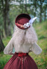 Model Show (Burgundy + Antique Pink Stripes Ver.) (blouse: TP00186, skirt: SP00215, underskirt: UN00030)