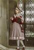 Model Show (Burgundy + Antique Pink Stripes Ver.) (striped JSK: DR00272, vest JSK: DR00273, blouse underneath: TP00186)