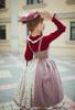 Model Show (Burgundy + Antique Pink Stripes Ver.) (striped JSK: DR00272, blouse: TP00186, underskirt: UN00030)