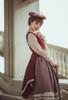 Model Show (Burgundy + Antique Pink Stripes Ver.) (striped JSK: DR00272, vest JSK: DR00273, blouse underneath: TP00186, underskirt: UN00030)