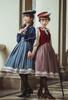 Model Show (Burgundy + Antique Pink Stripes & Dark Blue + Shadow Blue Stripes Ver.) (cape: CT00320, striped JSK: DR00272, vest JSK: DR00273, blouse underneath: TP00186, underskirt: UN00030)