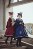 Model Show (Burgundy + Antique Pink Stripes & Dark Blue + Shadow Blue Stripes Ver.) (cape: CT00320, blouse underneath: TP00186, skirt: SP00215, underskirt: UN00030)