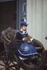 Model Show (Dark Blue + Shadow Blue Stripes Ver.) (short cape: CT00320, black long cape: CT00321, blouse underneath: TP00186, skirt: SP00215, underskirt: UN00030)