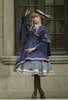 Model Show (Dark Blue + Shadow Blue Stripes Ver.) (cape: CT00320, striped JSK: DR00272, vest JSK: DR00273, blouse underneath: TP00186, underskirt: UN00030)