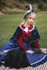 Model Show (Dark Blue + Shadow Blue Stripes Ver.) (short cape: CT00320, blouse: TP00186, skirt: SP00215, underskirt: UN00030)