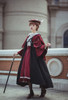 Model Show (Burgundy Ver.) (beret: P00692, long black cape: CT00321, blouse: TP00186, skirt: SP00215, underskirt: UN00030)
