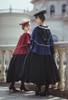 Model Show (Burgundy & Navy Blue Ver.) (beret: P00692, long black cape: CT00321, blouse: TP00186, skirt: SP00215, underskirt: UN00030)