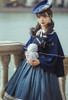 Model Show (Navy Blue Ver.) (beret: P00692, striped JSK: DR00272, blouse underneath: TP00186, underskirt: UN00030)