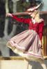 Model Show (Antique Pink Stripes Ver.) (beret: P00692, vest JSK: DR00273, blouse underskirt: TP00186)